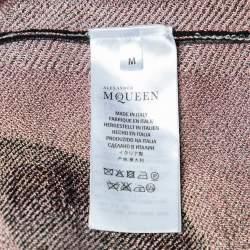 Alexander McQueen Black Obsession Intarsia Knit Pencil Skirt M