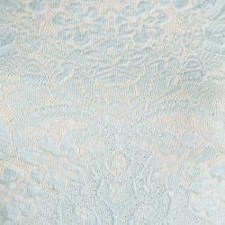 Alexander McQueen Powder Blue Floral Jacquard Knit Sleeveless Dress XS