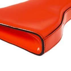 Alexander McQueen Neon Orange Patent Leather Clutch