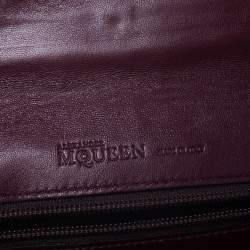 Alexander McQueen Burgundy Patent Leather Envelope Clutch