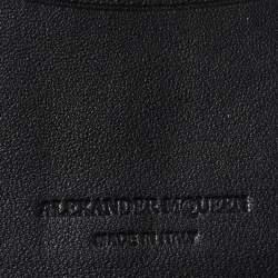 Alexander McQueen Grey Leather Skull Bifold Card Holder
