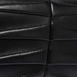 Alexander McQueen Black Leather Shark Teeth Skull Clutch
