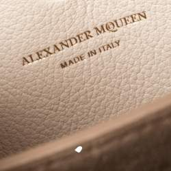 Alexander McQueen Off White Leather Scarf Box 19 Shoulder Bag