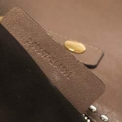 Alexander McQueen Beige Leather Medium Faithful De Manta Clutch