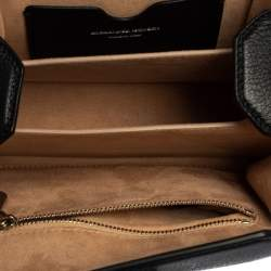Alexander McQueen Black Grained Leather Box 16 Crossbody Bag