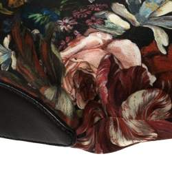 Alexander McQueen Multicolor Floral Print Satin Medium De Manta Clutch