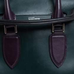 Alexander McQueen Black/Green Leather Small Heroine Satchel