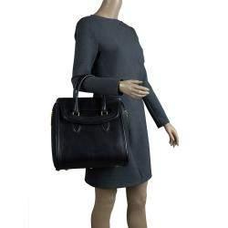 Alexander McQueen Black Leather Medium Heroine Tote