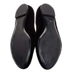 Alexander McQueen Black Velvet Skull Embroidered Smoking Slippers Size 38.5