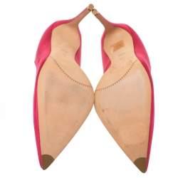 Alexander McQueen Pink Satin Heart Pumps Size 40