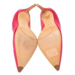 Alexander McQueen Pink Satin Heart Pumps Size 37