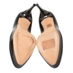 Alexander McQueen Black Leather Platform Pumps Size 36