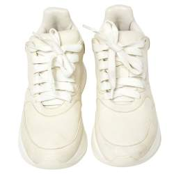 Alexander McQueen White Leather Oversized Sneakers Size 36