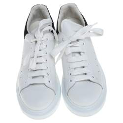 Alexander McQueen White/Black Suede And Leather Oversized Sneakers Size 40