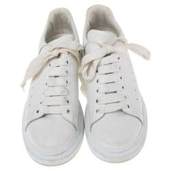 Alexander McQueen White Leather Oversized  Sneakers Size 39
