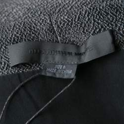 Alexander Wang Grey Stingray Pattern Draped Detail Top M