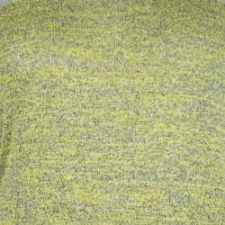 T by Alexander Wang Yellow and Grey Melange Knit Tube Skirt XS