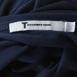 T By Alexander Wang Navy Blue Jersey Long Sleeve Top L