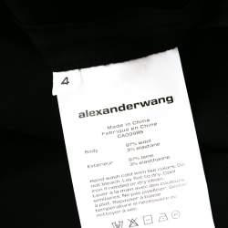 T by Alexander Wang Black Wool Mini Dress S