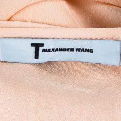 T By Alexander Wang Peach Sheer Dress M