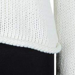 T Alexander Wang White Knit Cropped Hoodie M