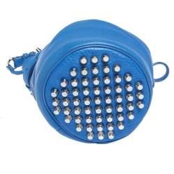 Alexander Wang Blue Leather Diego Bucket Bag
