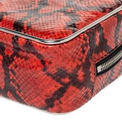 Alexander Wang Orange/Black Python Effect Leather Halo Box Bag