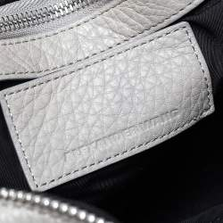 Alexander Wang Grey Ponyhair and Leather Rocco Duffel Bag