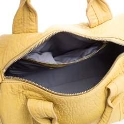 Alexander Wang Yellow Leather Rocco Duffle Bag