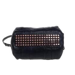Alexander Wang Black Pebbled Leather Rocco Duffle Bag