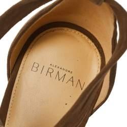 Alexandre Birman Beige Suede Lolita Sandals Size 39