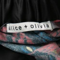 Alice + Olivia Romantic Butterfly Print Elasticized Waist Pants M
