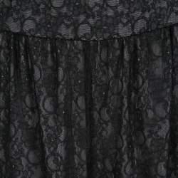 Alice + Olivia Black Lace High Waist Tapered Pants L