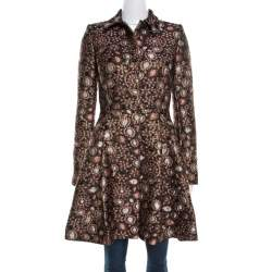 Alice + Olivia Multicolor Metallic Brocade Flared Veronika Coat XS
