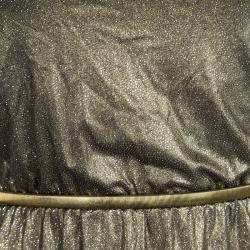 Alice + Olivia Metallic Gold Sleeveless Belted Estelle Dress  XS