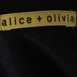 Alice + Olivia Black Sequin Embellished Detail Dress XS