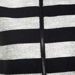 Alice + Olivia Bicolor Striped Knit Lurex Detail Amy Crop Top S