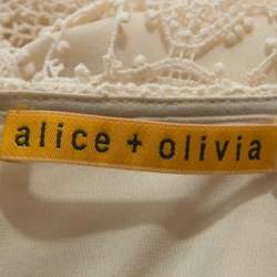 Alice + Olivia Cream Crochet Anora Maxi Dress M