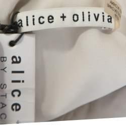 Alice + Olivia Black Lace Sleeveless Zooey Bodysuit XS