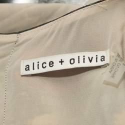 Alice + Olivia Multicolor Floral Print Silk Triss Maxi Dress M
