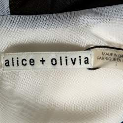 Alice + Olivia  Cream Lace Detail Fit & Flare Dress S