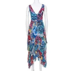 Alice + Olivia Multicolor Tie-Dye Kaleidoscope Dress XS