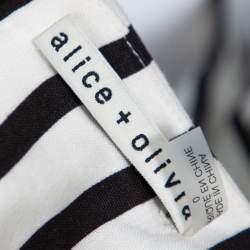 Alice + Olivia Monochrome Linen Lucie Gaucho Jumpsuit XS