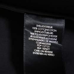 Alice + Olivia Black Cotton Waist Tie Detail Brynlee Midi Dress XS