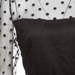 ALICE by Temperley Black Polka Dotted Celia Maxi Dress L