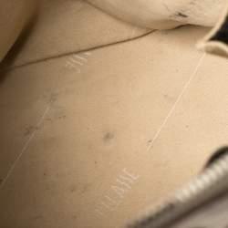 Alviero Martini 1A Classe Grey Geo Print Coated Canvas Dome Satchel
