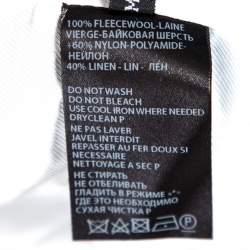Ann Demeulemeester Black Wool Contrast Trim Classic Fit Blazer M