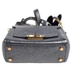 Anya Hindmarch Metallic Leather Small Dragonfly Bathurst Top Handle Bag