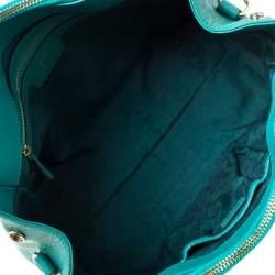 Anya Hindmarch Green Leather Ebury Soft Tote