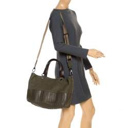 Anya Hindmarch Dark Olive Green Leather Rhodes Tote